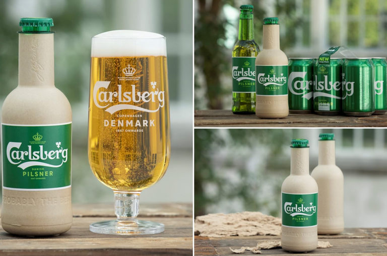 Carlsberg launches a paper bottle